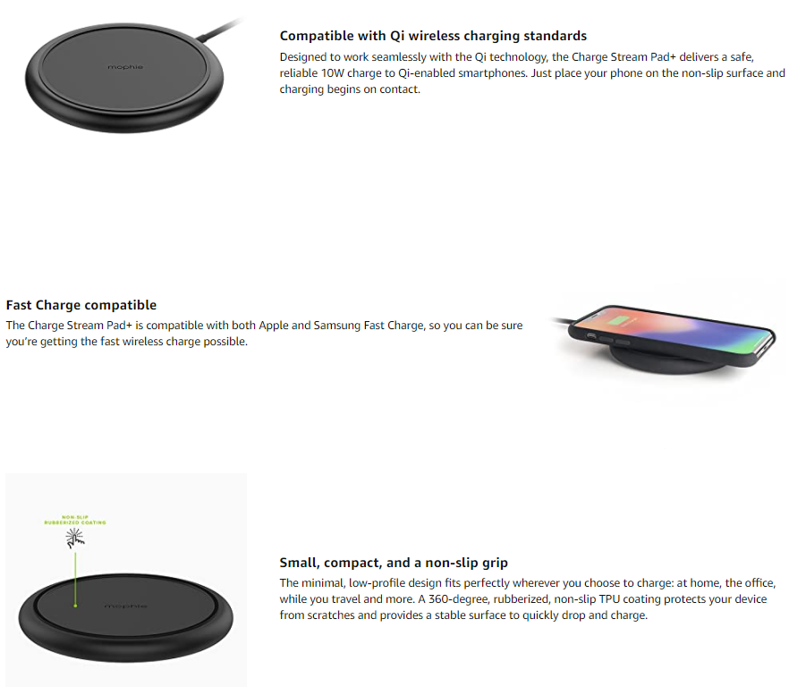 mophie 10W Qi Wireless Charge Pad