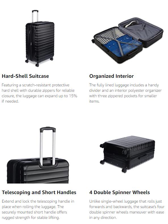 Spinner luggage hardside Suitcase