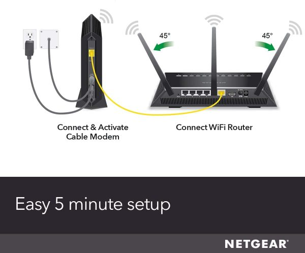NETGEAR Cable Modem CM700 Compatible with All Cable Providers 4